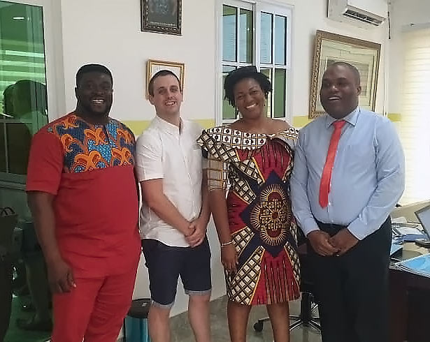 David with CEO of our partners Nathaniel Johnson, Destimona Johnson, and General Manager Henry Ameyaw.