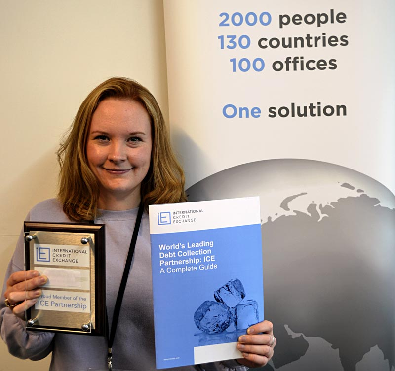 ICE Operations Manager Hannah Barratt has organised the conference, including new wall plaques for Members offices.