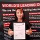 Office & HR Manager Rebecca Davies with ISO9001 certificate.